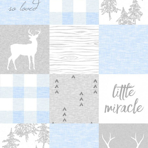 Little Miracle, So Loved - Baby Blue And Grey