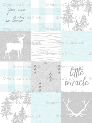 Little Miracle, So Loved - Aqua and Grey