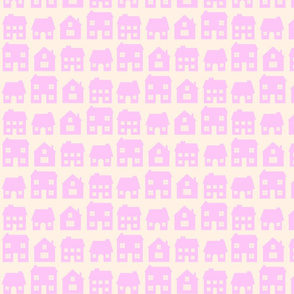 Little Scandi Houses in Pink