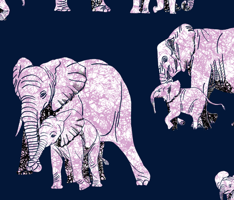 Elephant Love - Biggest fabric by house_of_heasman on Spoonflower - custom fabric