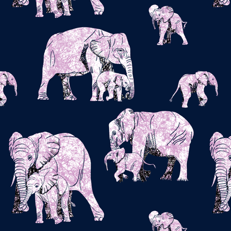 Elephant Love - Tiny fabric by house_of_heasman on Spoonflower - custom fabric