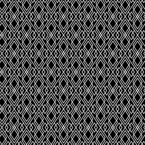 Witchy Diamond Grid - Black