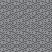 Witchy Diamond Grid - Gray