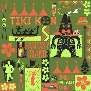 TIKI KON Fantasy Island - green