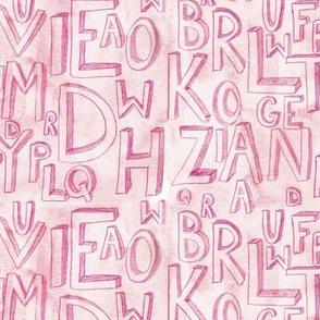 Purple Alphabet