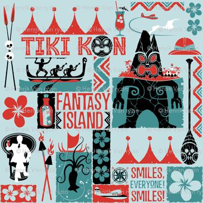 TIKI KON  Fantasy Island  - Blue