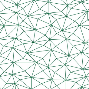 Green triangles low poly