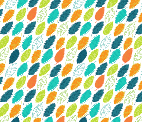 Multicolored leaves fabric by avisnana on Spoonflower - custom fabric