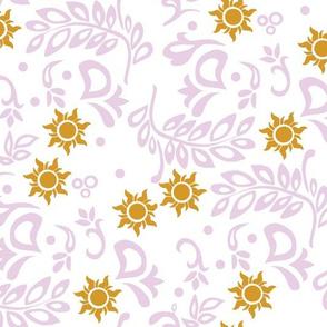 Tangled Wedding White Purple Gold