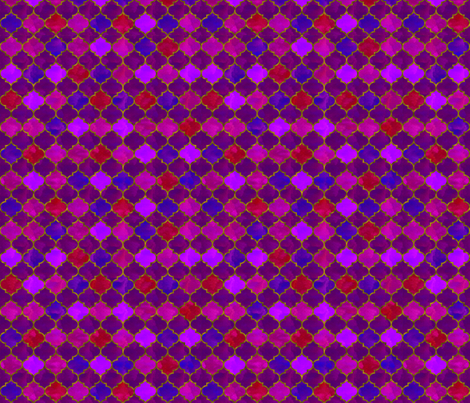 Purple Moroccan tile fabric by vivaeris_designs on Spoonflower - custom fabric