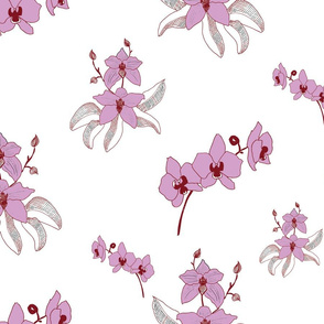 Simple orchid pattern