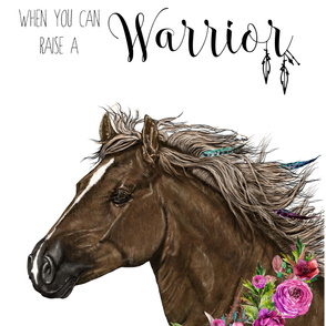 "54""x72"" Warrior Horse Quote"