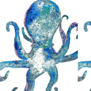 moody blue octopus