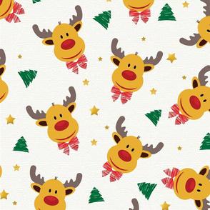 _reindeer christmas pattern-01