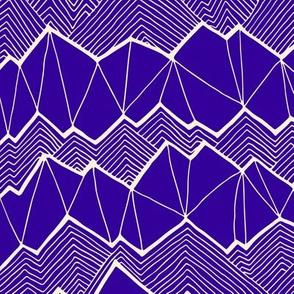 Subtle Mountain – Royal Blue