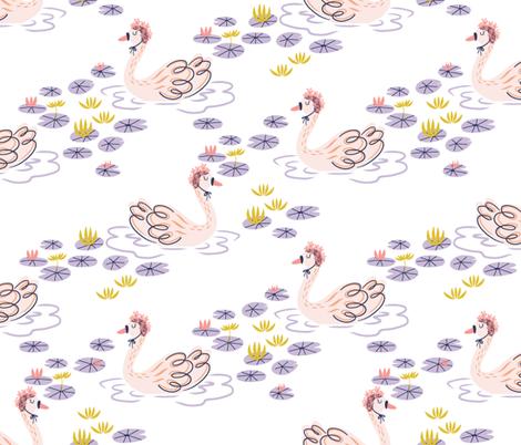 Swan Lily fabric by mollyvizesi on Spoonflower - custom fabric