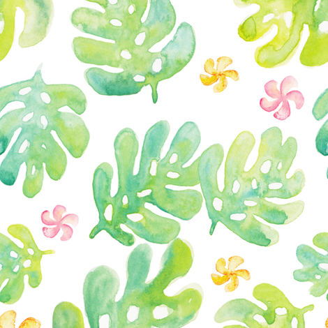 Kauai Tropical fabric by bexdsgn on Spoonflower - custom fabric