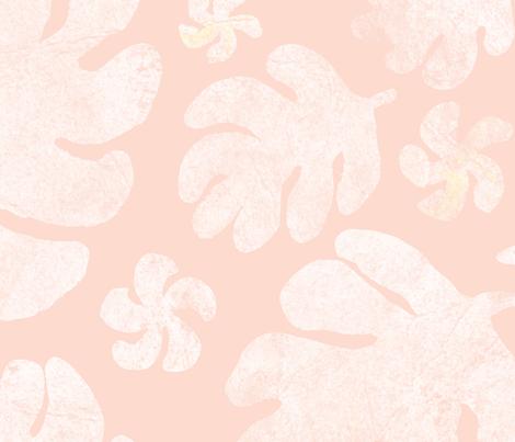 Kauai Tropical – Simple Peach fabric by bexdsgn on Spoonflower - custom fabric