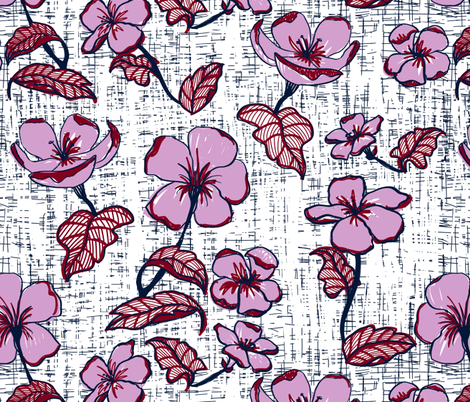 Mid century florals limited palette fabric by mrshervi on Spoonflower - custom fabric