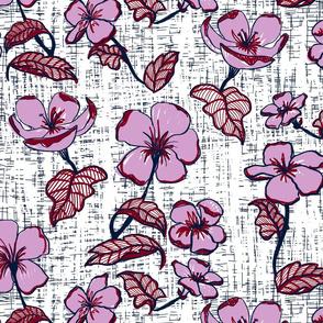 Mid century florals limited palette