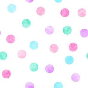 "1.5"" polka dots - pink, purple, blue, green"