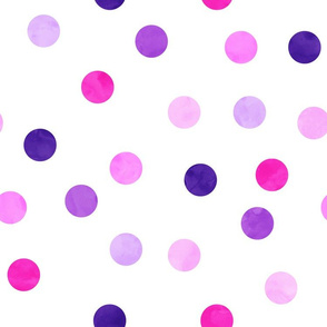 "1.5"" polka dots - scatter pink and purple"