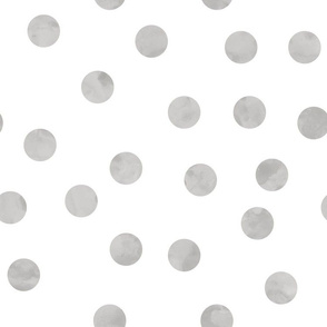 "1.5"" polka dots scatter - grey"