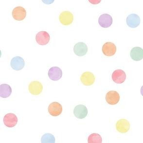 "1.5"" polka dot scatter - pastel rainbow"
