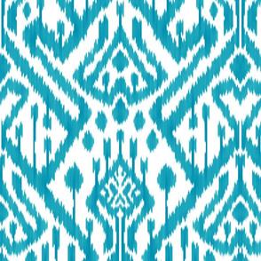 Seablue Turquoise deco ikat