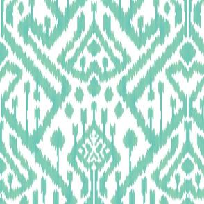 Seaside mint green deco ikat
