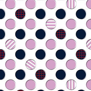 Navy Orchid Dots and Spots