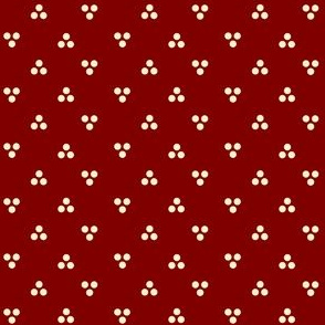 Triune Dots on Maroon