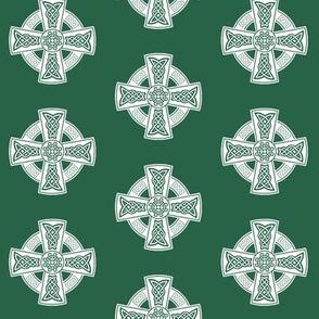 Ornate Celtic Cross // Jade // Small