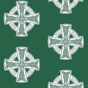 Ornate Celtic Cross // Jade // Large