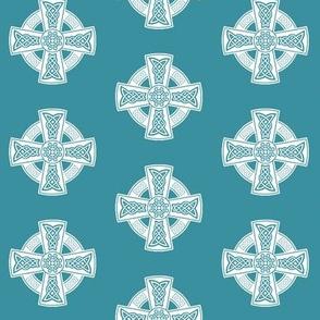 Ornate Celtic Cross // Teal // Small