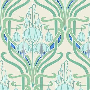 Art Nouveau Flowering Buds Large