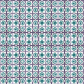 Circle plaid - teal