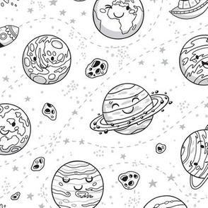 Solar System coloring print