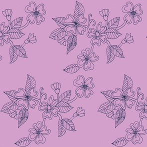 Mauve and Navy Floral