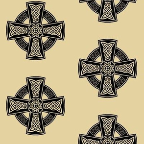 Ornate Celtic Cross // Tan // Large