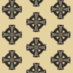 Ornate Celtic Cross // Tan // Small