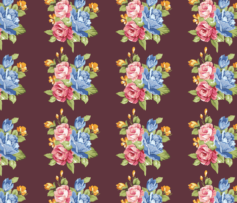Rusty Roses fabric by xaublae on Spoonflower - custom fabric