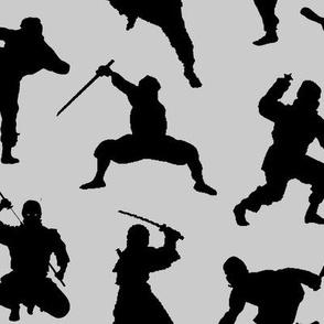 Ninjas on Grey // Large