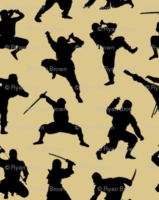 Ninjas on Tan // Large