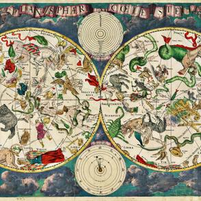 """1670 Celestial Map (54""""W)"""