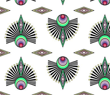 Art Deco -Large scale fabric by elysium_design on Spoonflower - custom fabric