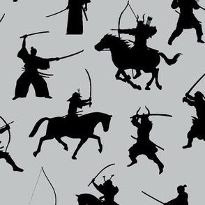 Samurai on Grey // Large