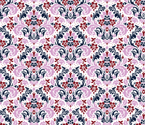 Limited Palette - Damask fabric by malibu_creative on Spoonflower - custom fabric