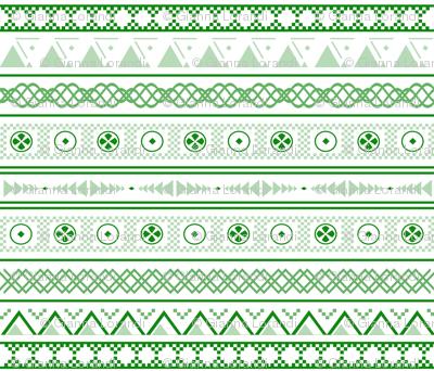 Tribal Monochrome Green