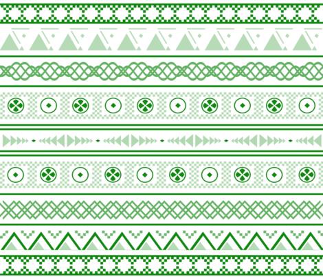Tribal Monochrome Green fabric by gicalorandi on Spoonflower - custom fabric